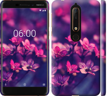 Чехол на Nokia 6 2018 Пурпурные цветы