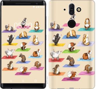 Чехол на Nokia 8 Sirocco Йога морских свинок