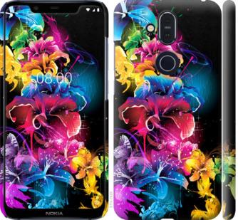 Чехол на Nokia 8.1 Абстрактные цветы