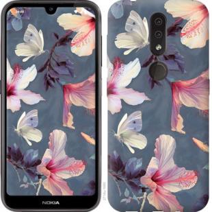 Чехол на Nokia 4.2 Нарисованные цветы