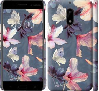 Чехол на Nokia 6 Нарисованные цветы