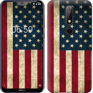 Чехол на Nokia 6.1 Plus Флаг США