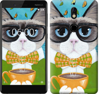 Чехол на Nokia 7 CatandCoffee