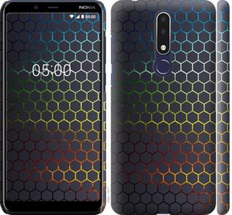 Чехол на Nokia 3.1 Plus Переливающиеся соты