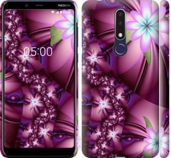 Чехол на Nokia 3.1 Plus Цветочная мозаика