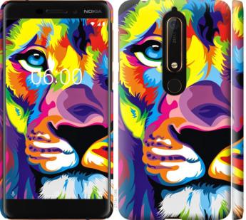 Чехол на Nokia 6.1 Разноцветный лев