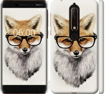 Чехол на Nokia 6.1 Лис в очках