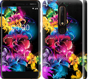 Чехол на Nokia 6.1 Абстрактные цветы