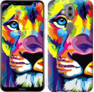 Чехол на Nokia 7.1 Plus Разноцветный лев