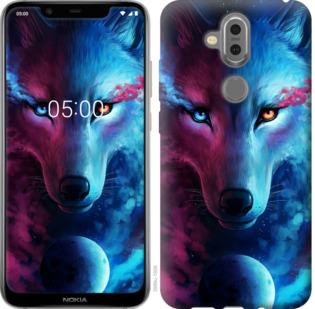 Чехол на Nokia 7.1 Plus Арт-волк