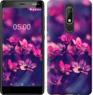 Чехол на Nokia 5.1 Пурпурные цветы