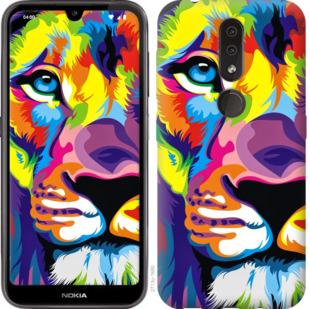 Чехол на Nokia 4.2 Разноцветный лев