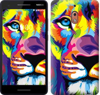 Чехол на Nokia 2.1 Разноцветный лев