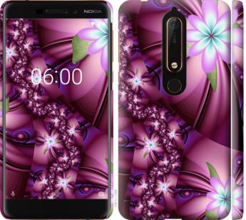 Чехол на Nokia 6.1 Цветочная мозаика