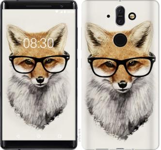 Чехол на Nokia 8 Sirocco Лис в очках