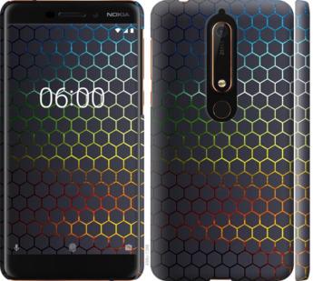 Чехол на Nokia 6.1 Переливающиеся соты
