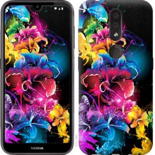 Чехол на Nokia 4.2 Абстрактные цветы