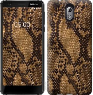 Чехол на Nokia 3.1 Змеиная кожа