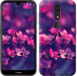 Чехол на Nokia 4.2 Пурпурные цветы