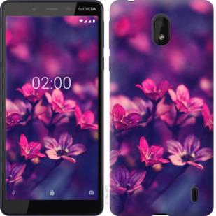 Чехол на Nokia 1 Plus Пурпурные цветы