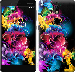 Чехол на Nokia 7 Абстрактные цветы