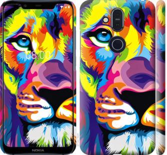 Чехол на Nokia 8.1 Разноцветный лев