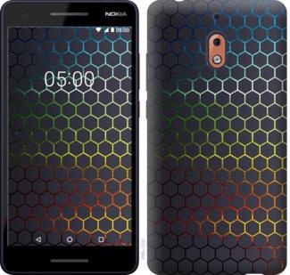Чехол на Nokia 2.1 Переливающиеся соты