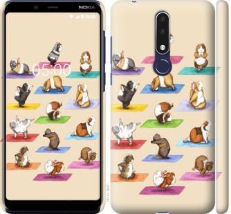 Чехол на Nokia 3.1 Plus Йога морских свинок