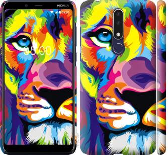 Чехол на Nokia 3.1 Plus Разноцветный лев