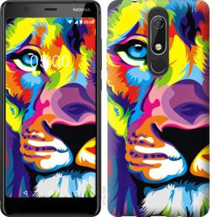 Чехол на Nokia 5.1 Разноцветный лев