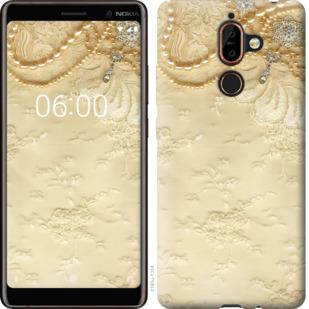 Чехол на Nokia 7 Plus Кружевной орнамент