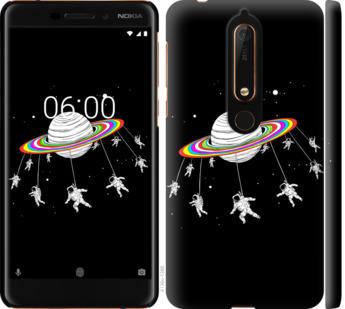 Чехол на Nokia 6.1 Лунная карусель