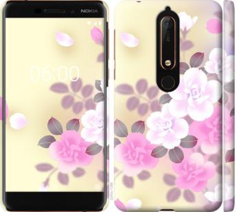 Чехол на Nokia 6.1 Японские цветы