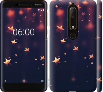 Чехол на Nokia 6 2018 Падающие звезды