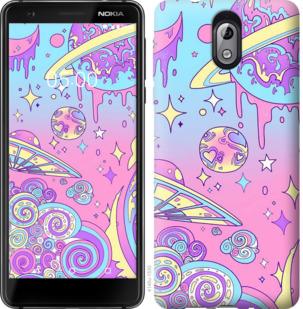 Чехол на Nokia 3.1 Розовая галактика