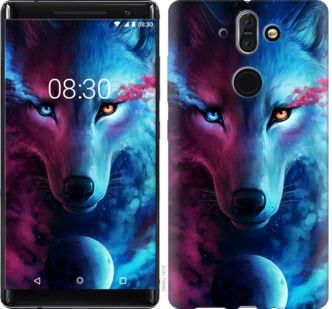 Чехол на Nokia 8 Sirocco Арт-волк