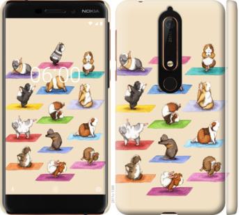 Чехол на Nokia 6.1 Йога морских свинок