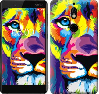 Чехол на Nokia 7 Разноцветный лев