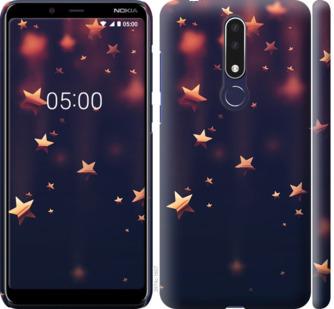 Чехол на Nokia 3.1 Plus Падающие звезды