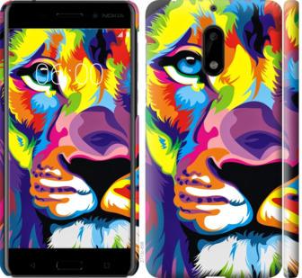 Чехол на Nokia 6 Разноцветный лев