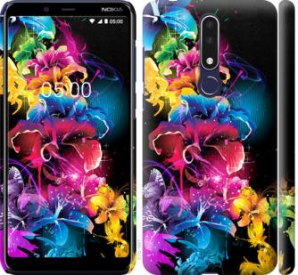 Чехол на Nokia 3.1 Plus Абстрактные цветы