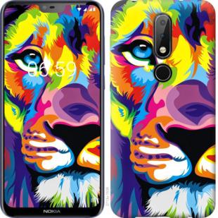 Чехол на Nokia 6.1 Plus Разноцветный лев