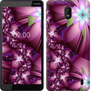 Чехол на Nokia 1 Plus Цветочная мозаика