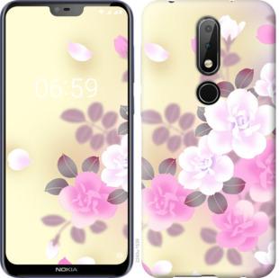 Чехол на Nokia 6.1 Plus Японские цветы