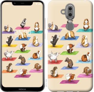Чехол на Nokia 7.1 Plus Йога морских свинок