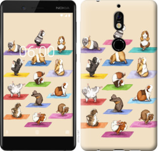 Чехол на Nokia 7 Йога морских свинок
