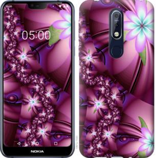 Чехол на Nokia 7.1 Цветочная мозаика