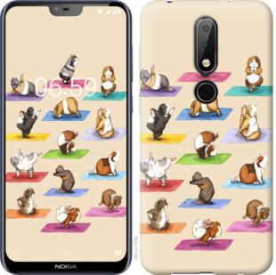 Чехол на Nokia 6.1 Plus Йога морских свинок