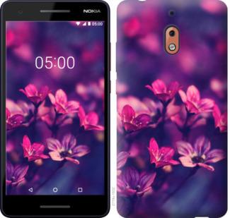 Чехол на Nokia 2.1 Пурпурные цветы