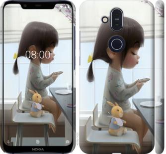 Чехол на Nokia 8.1 Милая девочка с зайчиком